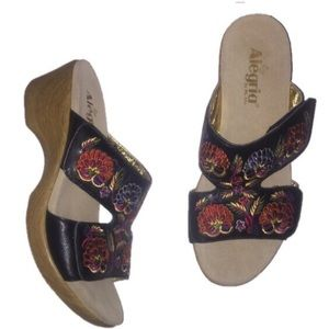 Alegria embroidered floral 40 10 sandals